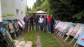 Gruppenbild Arbeitseinsatz SPD Oberschleißheim