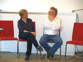 Harald Müller steht Rede und Antwort (mit Natascha Kohnen)