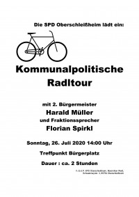 Plakat Radltour