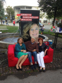 v.l.n.r.: Annette Ganssmüller-Maluche (Landtagskandidatin), Dr. Klaus Hornung (Vorsitzender SPD OSH), Elisabeth Ziegler (ehem. Bürgermeisterin OSH)
