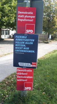 SPD-Plakate in Oberschleißheim