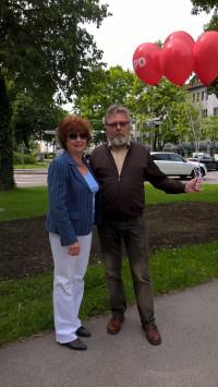 Altbürgermeisterin E. Ziegler und SPDler Harald Müller